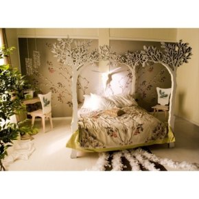 romantic scandinavian apple tree bed