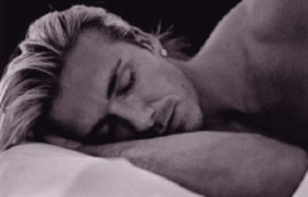 david beckham sleeping