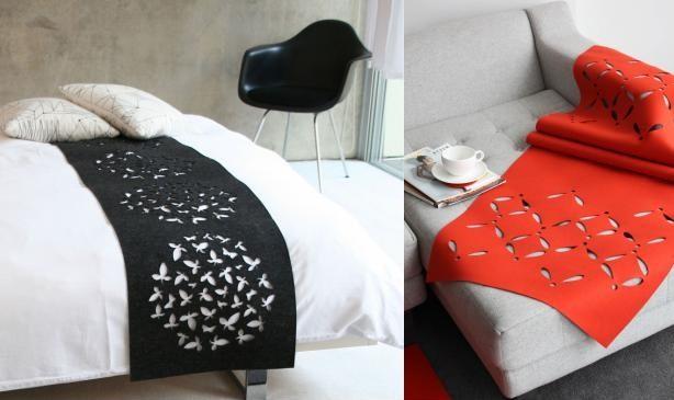 selina rose felt bed runner home decor